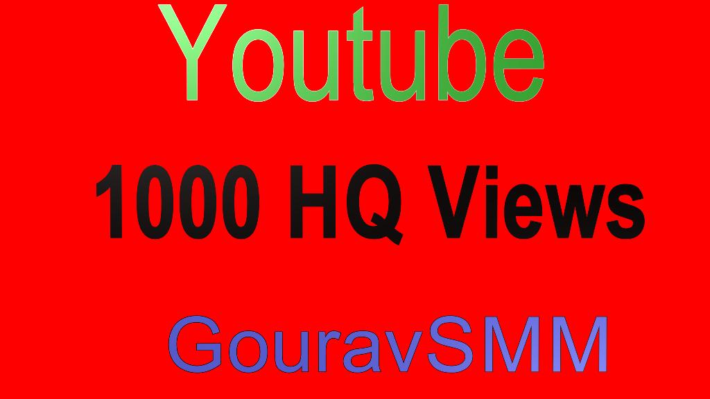1000 Video views High Quality Drip feed