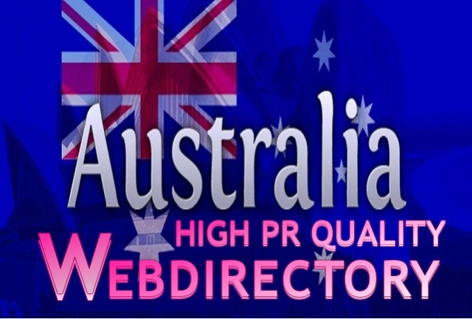 submit 30 Australia high pr web directory to get Australian online traffic
