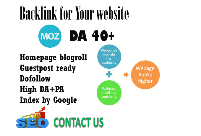 give you site DA 30,  for backlink blogroll homepage permanent