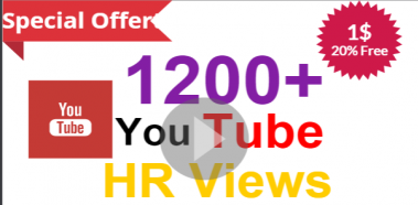 Give You 1200  Guaranteed [70-90 percent] High Retention Views