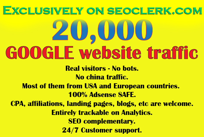 Get 20000++  Visitors from Google in less than one week
