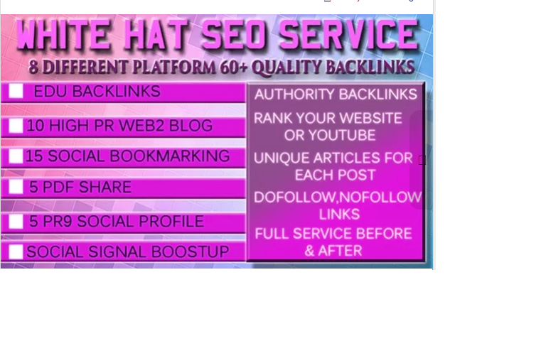 provide Ultimate White Hat SEO Service for website, youtube