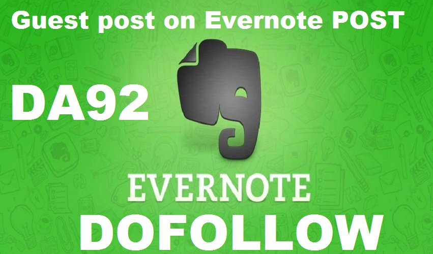 Write and Publish Guest Post On Evernote.com DA93 with Dof0llow