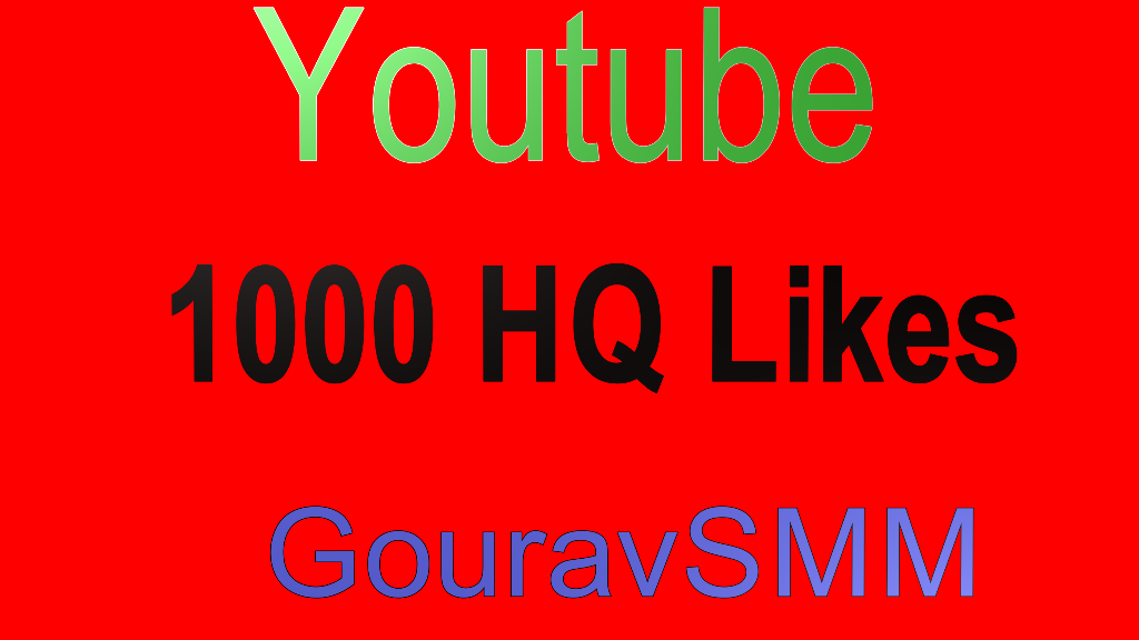 Safe 1000 Youtube Likes Or 1500 Likes or reposts or followers on Music Profile