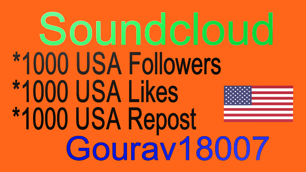 Safe 1000 Youtube likes Or 1000 Soundcloud Likes or reposts or followers
