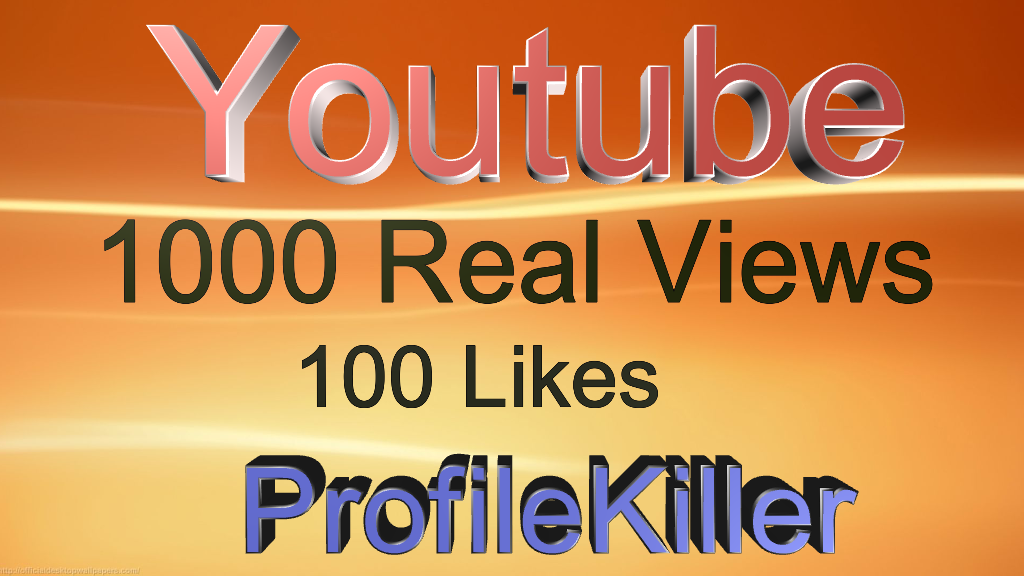 1000  Drip Feed vie ws and 100 Real lik es for Youtube video