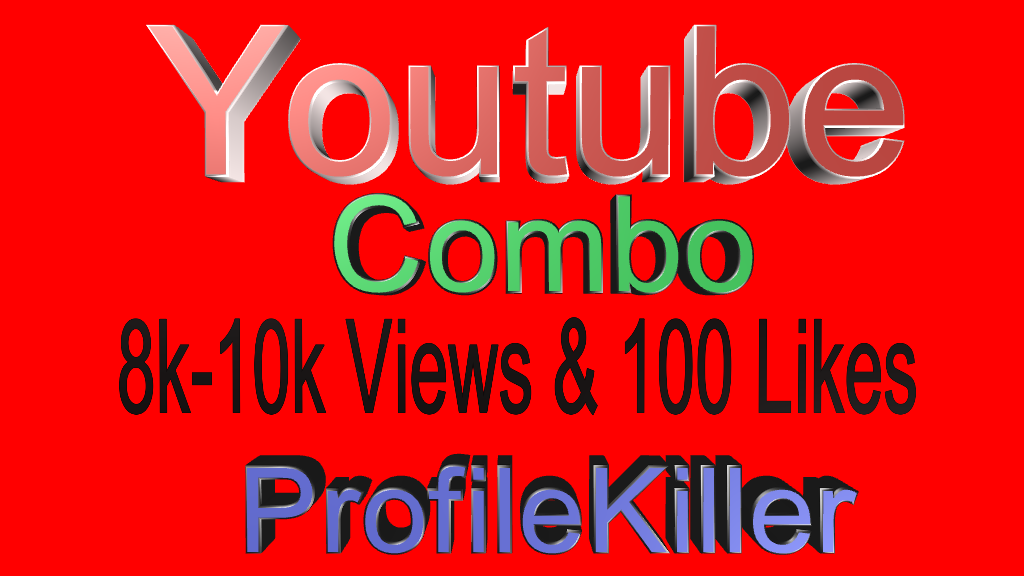 8000+ views and 100 Real likes for Youtube video