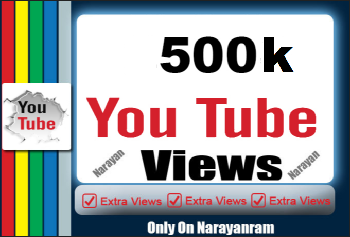 500000 (500k) Youtube views High Retention