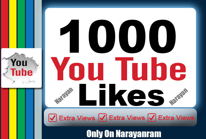 1000 Real YouTube video Likes Instant, Fully safe 5 Min Complete