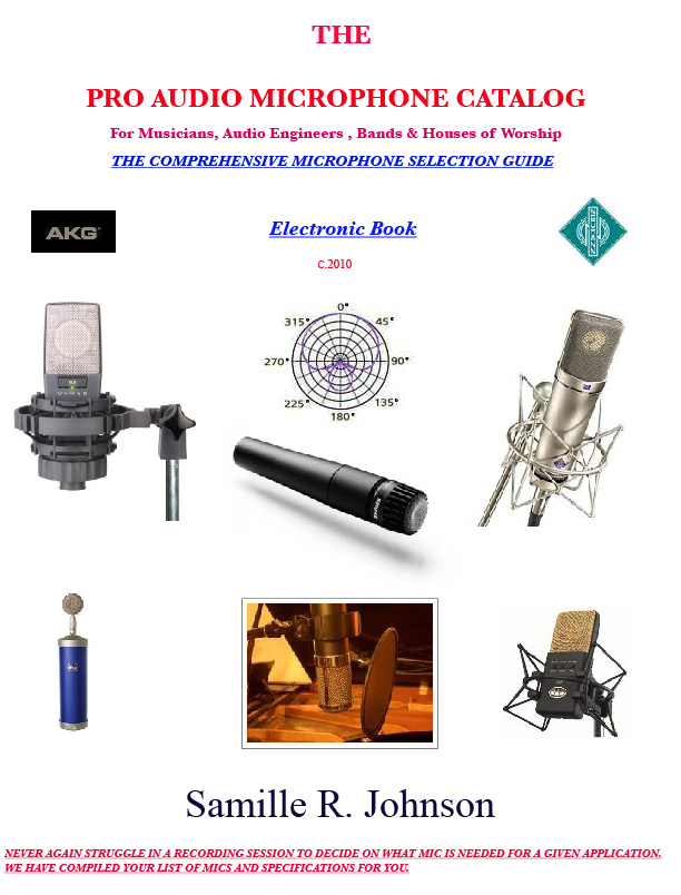 The Pro Audio Microphone Cataolog eBook