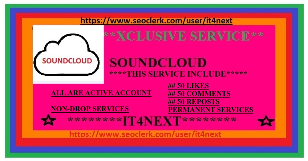 Get usa user based soundcloud 50 comments + 50 likes + 50 reposts