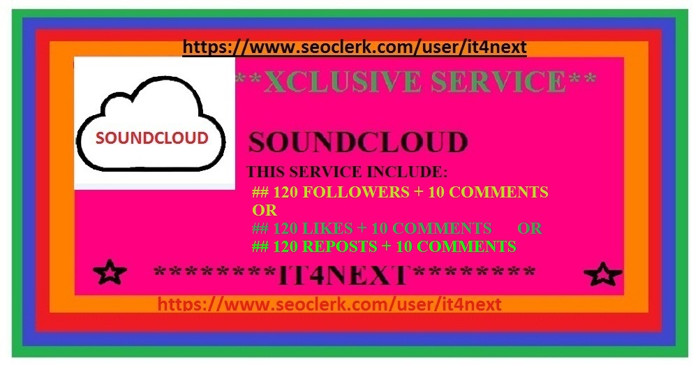 Get Real and Non-Drop 100 soundcloud likes or followers or reposts + soundcloud 10 comments