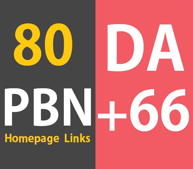 80 Powerful Permanent Homepage PBN Links Manual HIGH DA 66+ Dofollow Website,  blogs,  Youtube
