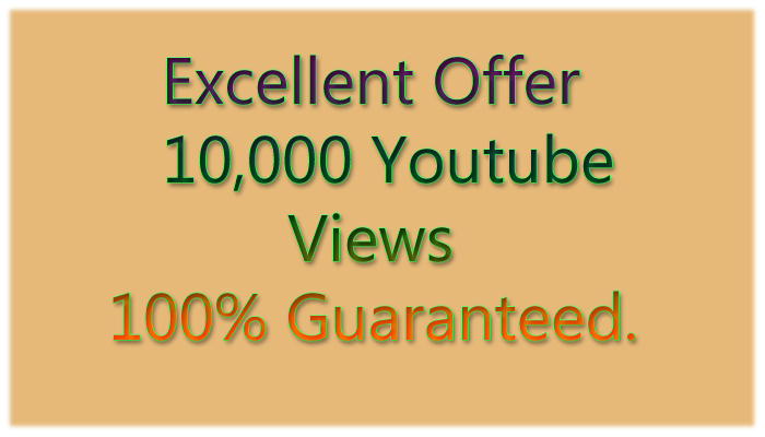Safe & High Retention 10,000+ youtube views within 24 hours only