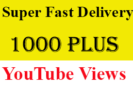 Super Fast 1010+ High Retention Youtube Views