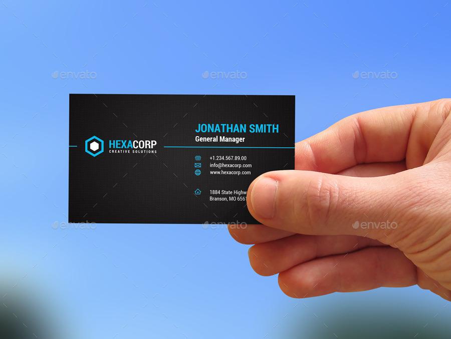 create 2 different Modern Business card