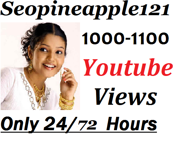 1,000 to1,100 High Quality Non Drop Youtube Vie'w's Within few days