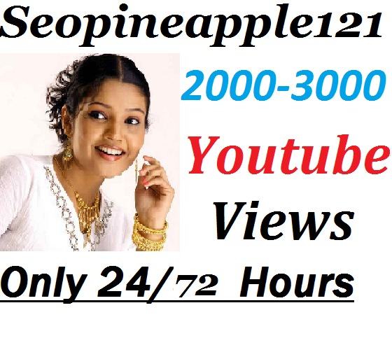 2,000 to 3000 High Quality Non Drop Youtube Vi e ws Within 24-72 Hours