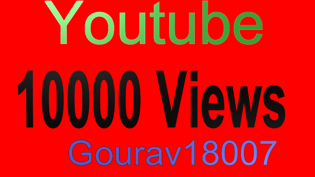 Youtube 10000+  Good Retention Views
