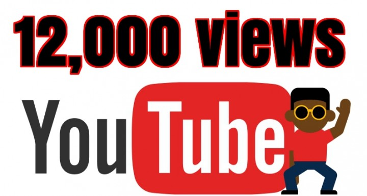 Add 12,000 to 14000+ High Quality Youtube views and 100+ Likes