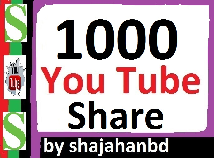 1000+ Youtube Shares Lifetime Guaranteed 12-24 Hours In Complete