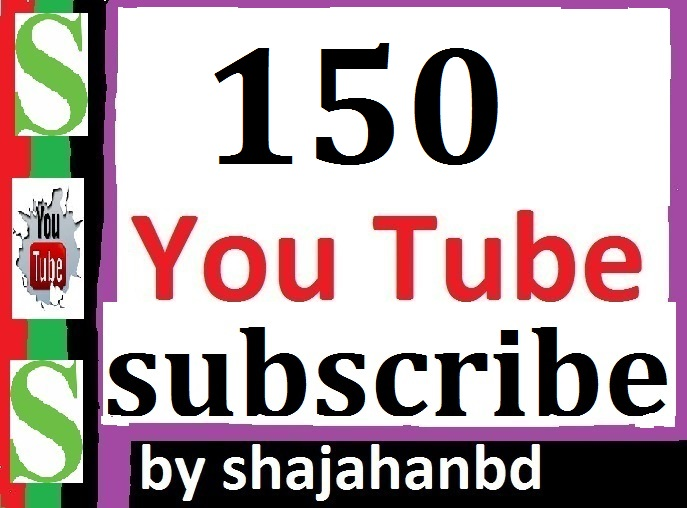 Guaranteed 150+ Real You tube Channel subs cribers Non Drop Instant Start