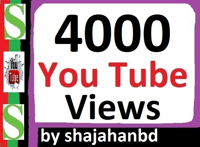 4000+ Safe/ Non Drop YouTube Views + 06 Extra Bonus YouTube Likes 24/48 Hours Delivery