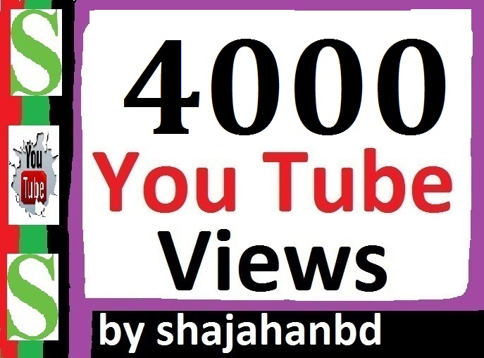 4000 Safe/ Non Drop YouTube Views  24/36 Hours Delivery