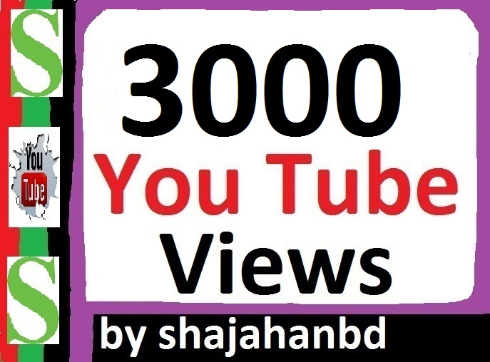 2500-3000 Safe/ Non Drop YouTube Views + 07 Extra Bonus YouTube Likes 24/48 Hours Delivery
