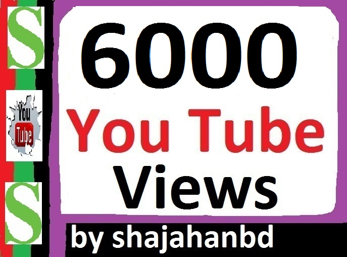 6000+ Safe/ Non Drop YouTube Views + 06 Extra Bonus YouTube Likes 24/48 Hours Delivery