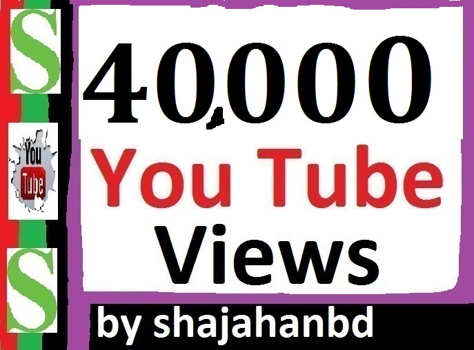 40,000 YouTube Views and 220+ Extra Bonus Likes Instant Delivery