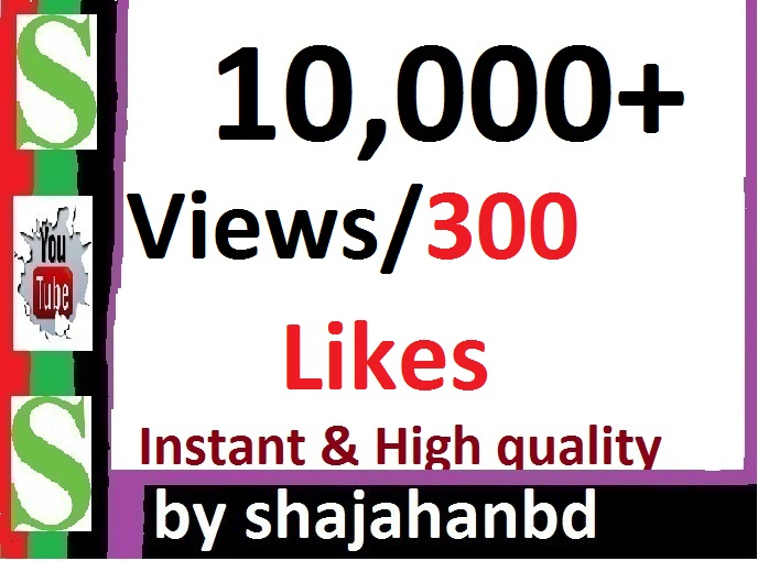 Instant Start 10,000 Social Video views Or 300 Likes in Pic Promotion
