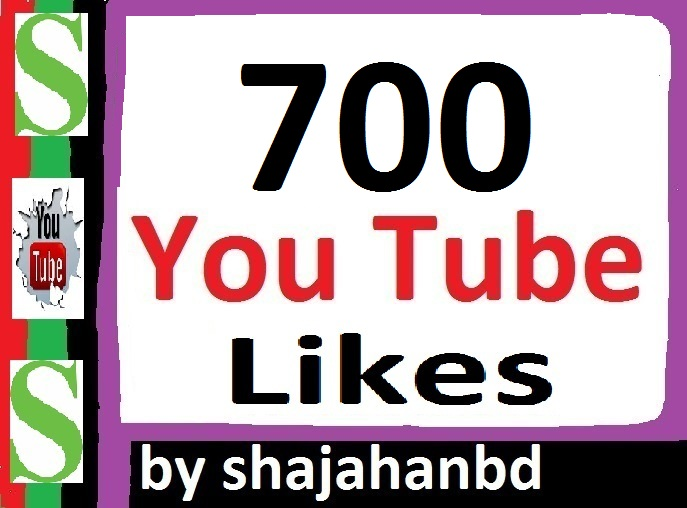 700+ Real Active Human YouTube Likes 12-24 Hours only
