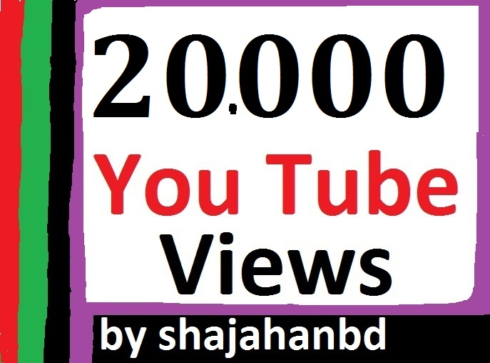 20,000 High Quality Views Non Drop Super Fast Delivery
