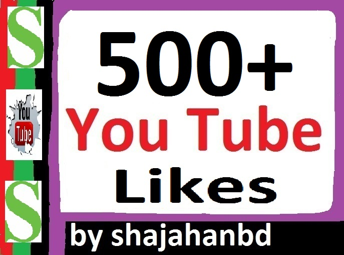 provide you 500+ Real Active Human Verified YouTube Video Likes 12-24 Hours only