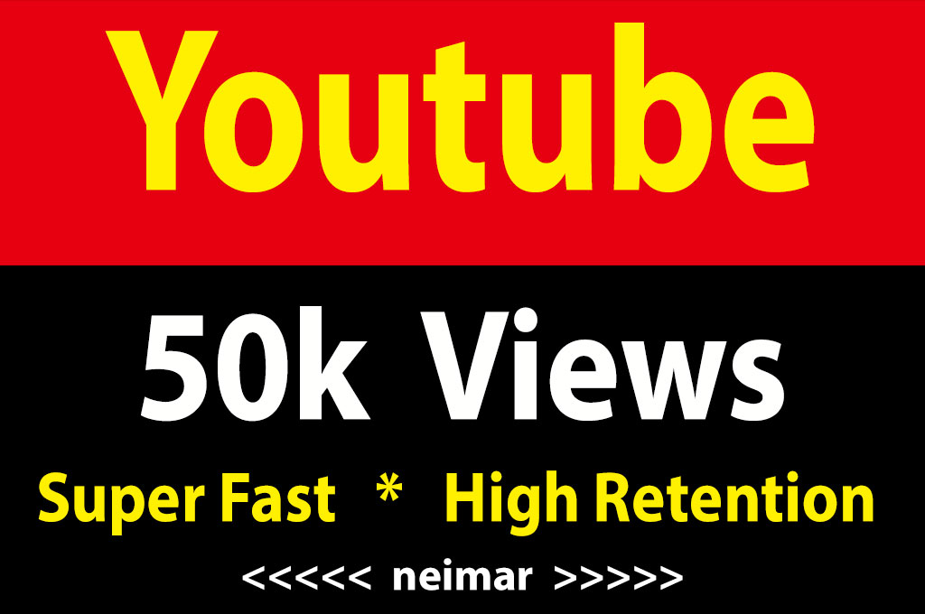 instant 50000 / 50k Youtube Vieews Fully Safe Lifetime Guarantee