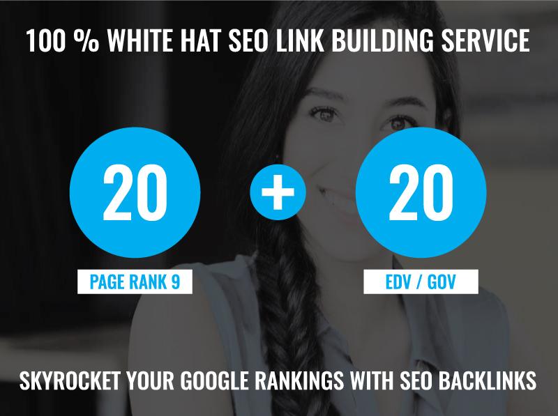 20 Pr 9 Back links + 20 EDU GOV Back links DA 80 + For Boost Your Rank On Google