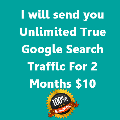 I will send you Unlimited True Google Search Traffic for 2 months