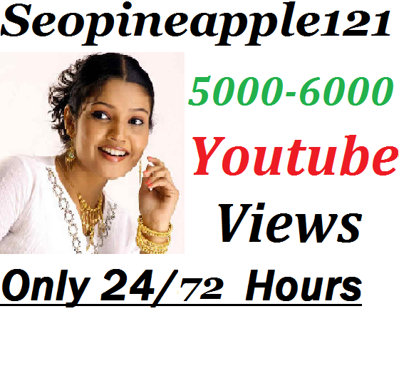 5000-6000 High Quality Non Drop Youtube Vi ews Within 24-72 Hours