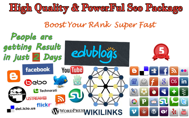 Complete high quality & powerful seo package to rank super fast in search engine