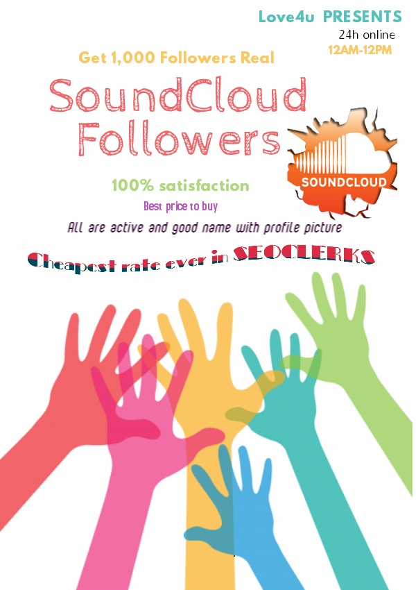 Get 1000 SoundCloud Followers Real Human World wide people