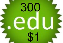 give you 300 edu backlinks in max 24 hours