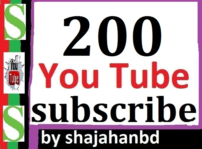 200+ YouTube Subscribers Non Drop Guarantee