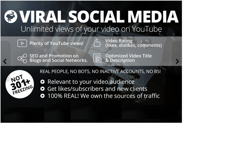 promote YouTube video UNLIMITED views opportunity with viral Social Media method