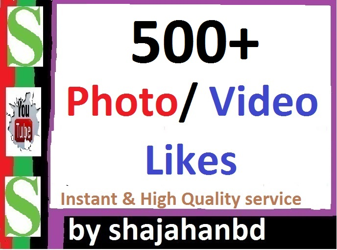 Instant 500+ Likes In Pic Or 30,000 Views in Video