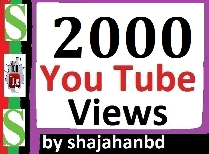 1000 High Quality Youtube Views Non Drop Instant Start