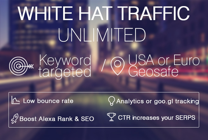 I will deliver Unlimited GOOGLE White Hat Search Traffic
