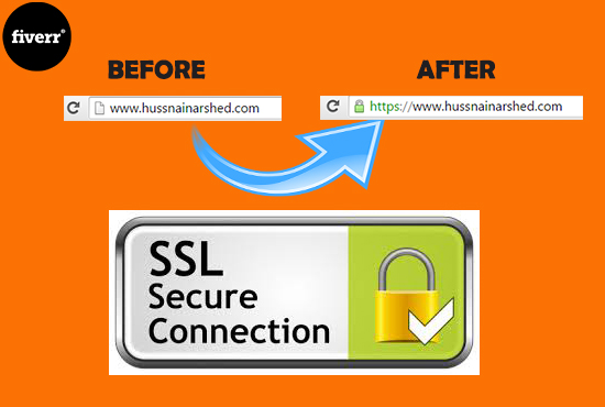 I will install SSL certificate for your website i.e green https