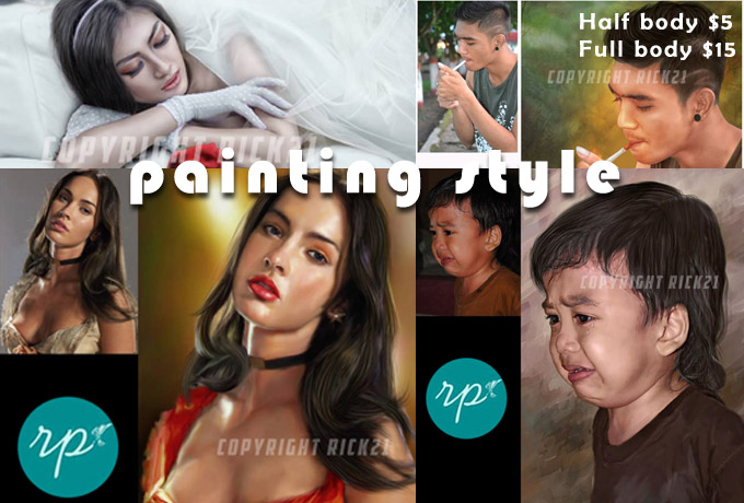 I will make your photos into PAINTING style