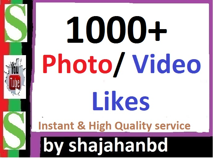 Instant 1000+ Likes In Pic Or 50,000 Views in Video